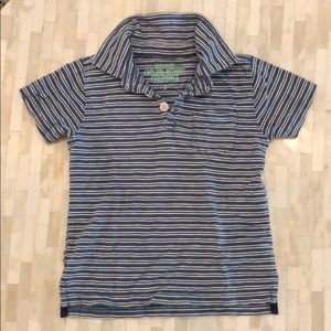 Crewcuts Shirts & Tops - J crew kids striped blue and white polo, size 3